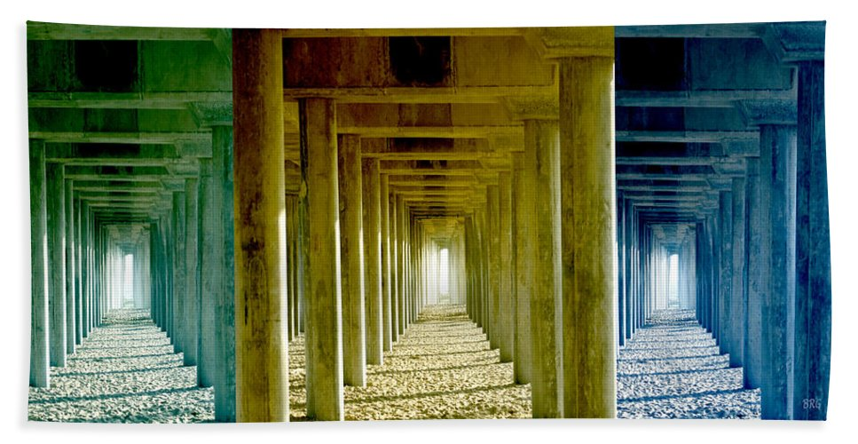 Pier Bath Sheet featuring the photograph Triple Perspective by Ben and Raisa Gertsberg