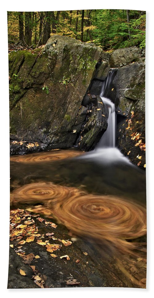 Waterfall Bath Sheet featuring the photograph Triple Swirls by Susan Candelario