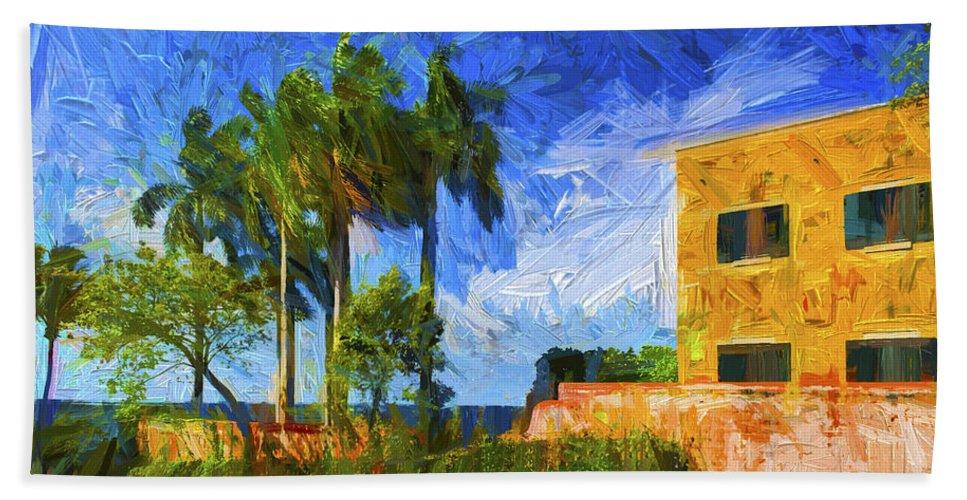 Tropic Paradise Bath Sheet featuring the photograph Tropical Paradise by Carlos Diaz