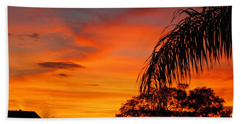 Sunset Bath Sheet featuring the photograph Tropica Royale by George D Gordon III