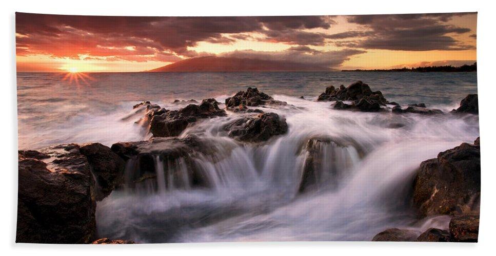 Hawaii Hand Towel featuring the photograph Tropical Cauldron by Mike Dawson