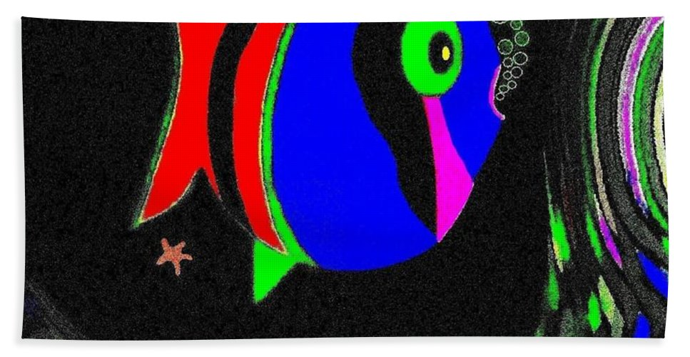 Tropical Cave Fish 1 Hand Towel featuring the digital art Tropical Cave Fish 1 by Will Borden