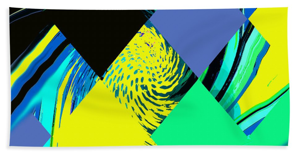 Abstract Bath Sheet featuring the digital art Tropical Impressions by Ian MacDonald