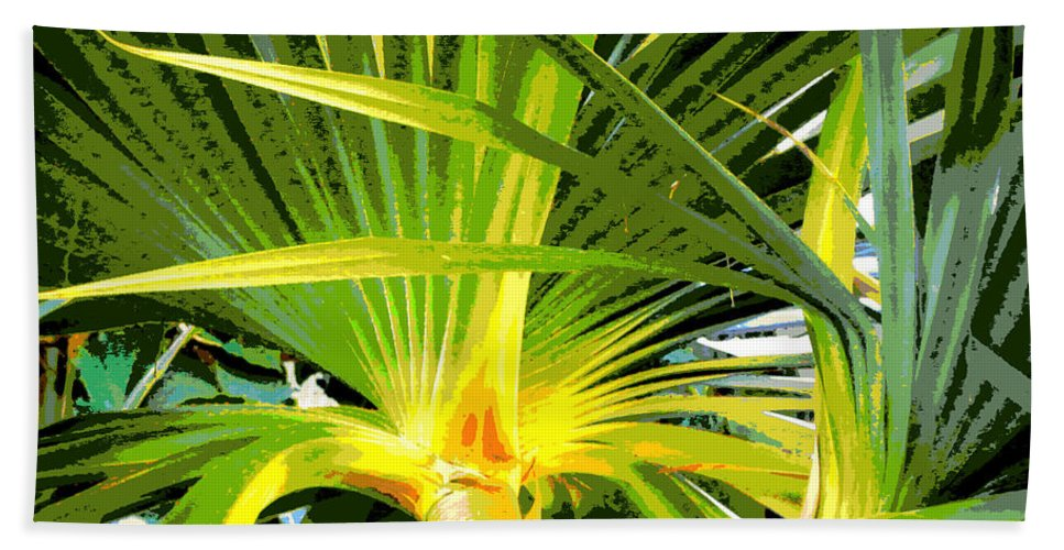 Tree Hand Towel featuring the photograph Tropical Leaves by Tina Meador