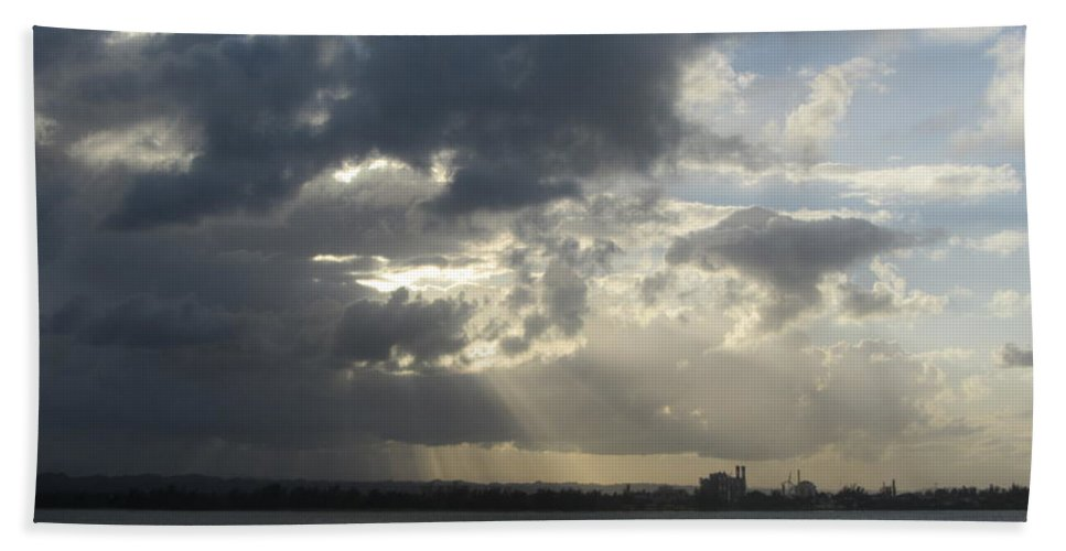 Puerto Rico Bath Sheet featuring the photograph Tropical Stormy Sky by Anita Burgermeister