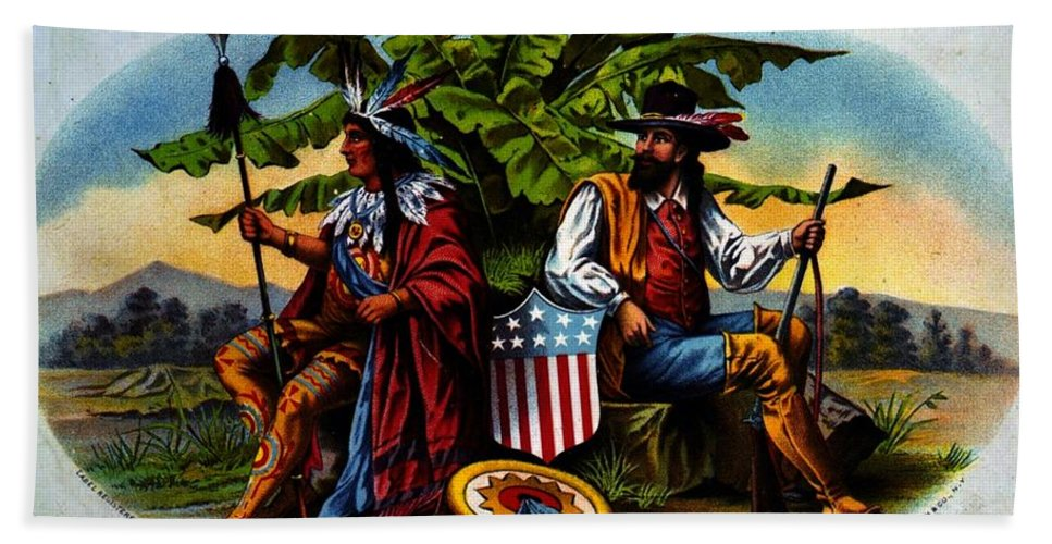 True Americans Hand Towel featuring the photograph True Americans by John Madison