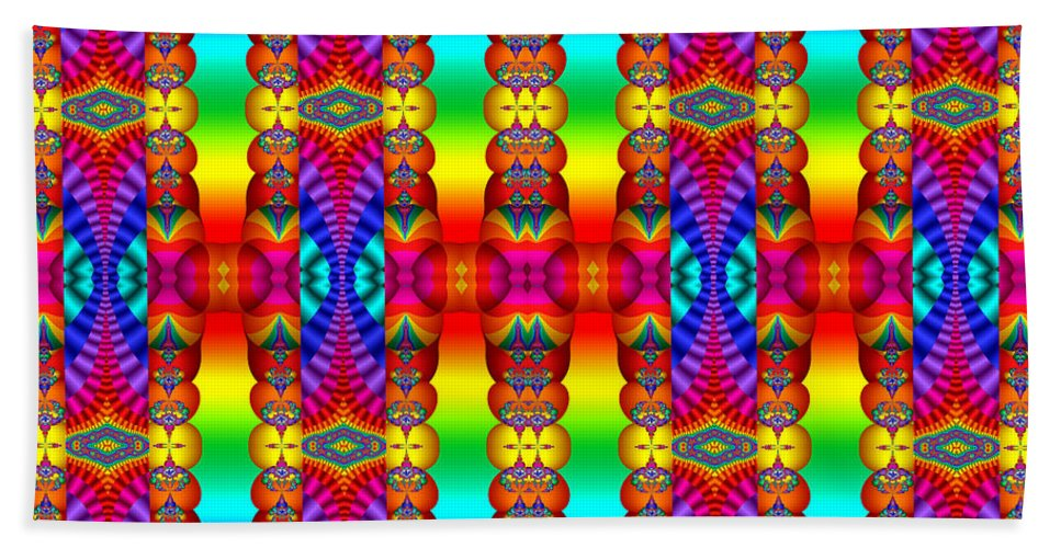 Colorful Bath Sheet featuring the photograph True Colors by Robert Orinski
