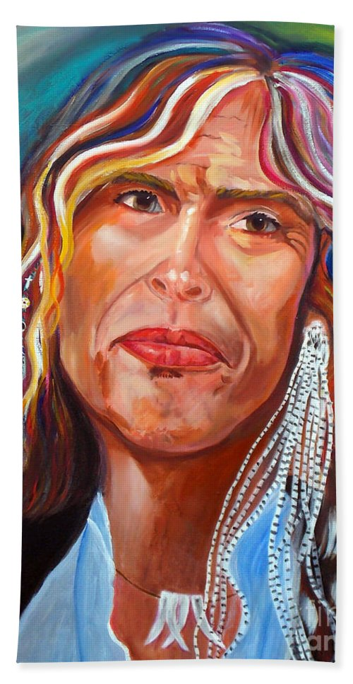 Steven Tyler Bath Sheet featuring the painting True Colors by To-Tam Gerwe