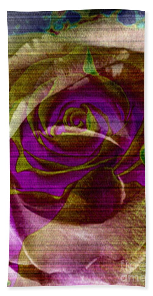 Digital Art Flower Bath Sheet featuring the digital art True Love by Yael VanGruber