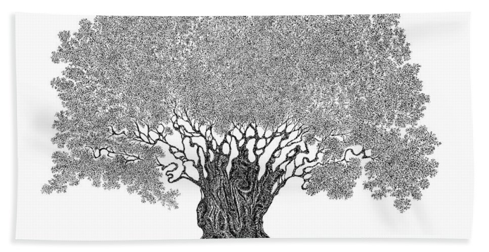Tree Bath Sheet featuring the drawing Truth by Andrea Currie