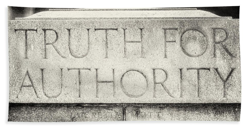 Pennsylvania Capitol Bath Sheet featuring the photograph Truth For Authority Lucretia Mott by Lisa Russo