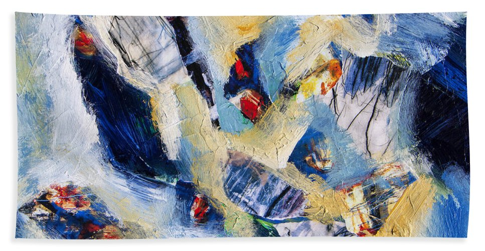 Abstract Bath Towel featuring the painting Tsunami 2 by Dominic Piperata