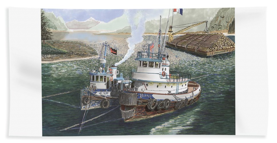 Gale Warning Bath Sheet featuring the painting Gale Warning Safe Harbor by Jack Pumphrey