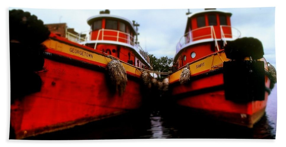 Fine Art Hand Towel featuring the photograph Tugs by Rodney Lee Williams