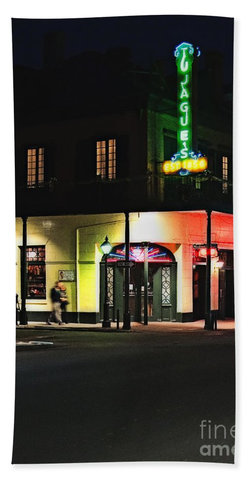 Tujagues Bath Sheet featuring the photograph Tujague's Restaurant New Orleans by Kathleen K Parker
