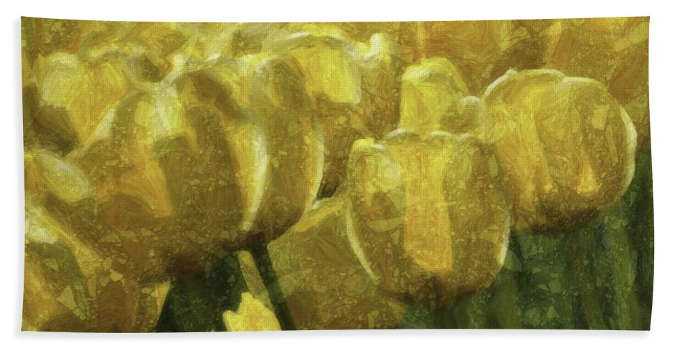 Flower Bath Sheet featuring the photograph Tulips All Over by Trish Tritz