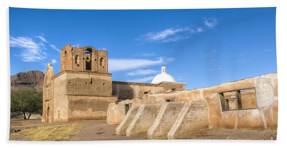 Mission Bath Sheet featuring the photograph Tumacacori 43 by Larry White