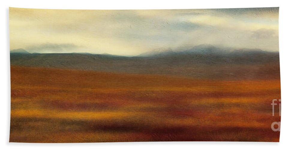 Fall Hand Towel featuring the photograph Tundra Autumn Melody by Priska Wettstein