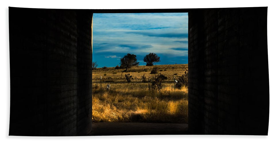 Tunnel Hand Towel featuring the photograph Tunnel Vision by Along The Trail