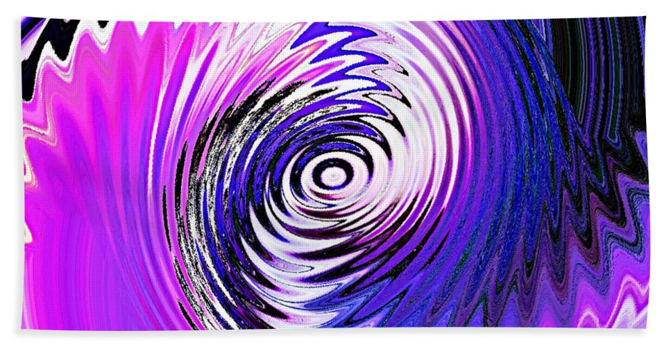 Turbulence Hand Towel featuring the digital art Turbulence by Lyriel Lyra
