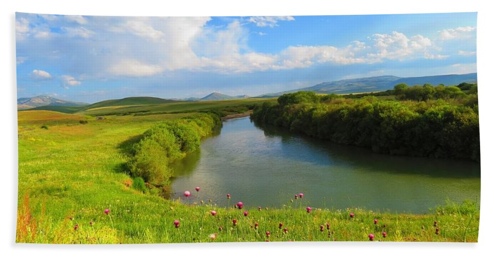 Turkey Bath Sheet featuring the photograph Turkey Countryside by FL collection