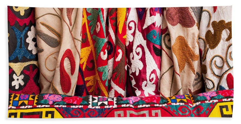 Turkish Bath Sheet featuring the photograph Turkish Textiles 03 by Rick Piper Photography