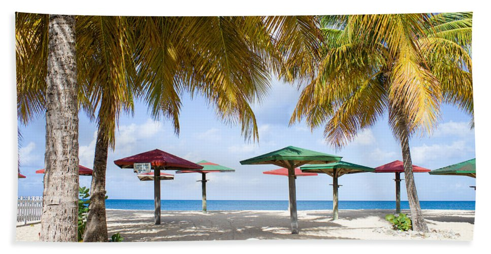 Antigua And Barbuda Bath Sheet featuring the photograph Turner's Beach by Ferry Zievinger