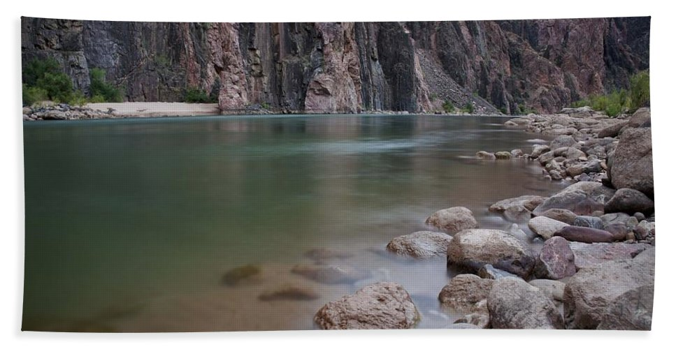 Grand Canyon Hand Towel featuring the photograph Turquoise Colorado River by Brian Kamprath