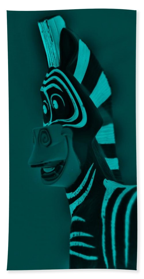 Zebra Bath Sheet featuring the photograph Turquoise Zebra by Rob Hans