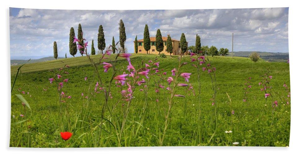 Pienza Bath Sheet featuring the photograph Tuscany - Pienza by Joana Kruse