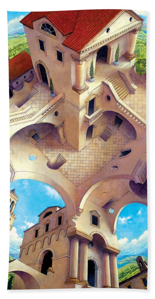 Tuscany Bath Sheet featuring the digital art Tuscany I by MGL Meiklejohn Graphics Licensing