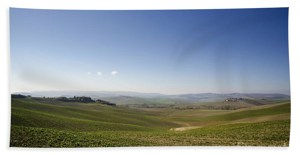 Agriculture Hand Towel featuring the photograph Tuscany by Mats Silvan