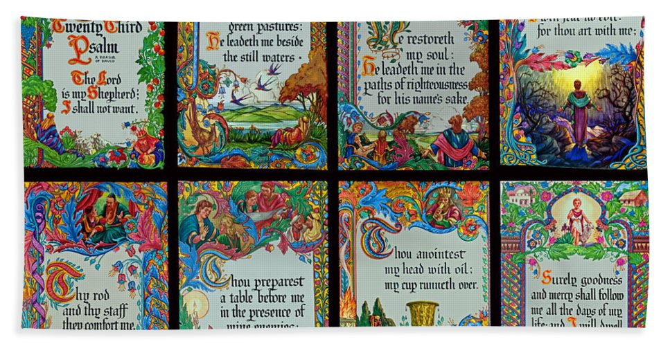 Holy Hand Towel featuring the photograph Twenty Third Psalm Collage 2 by Tikvah's Hope