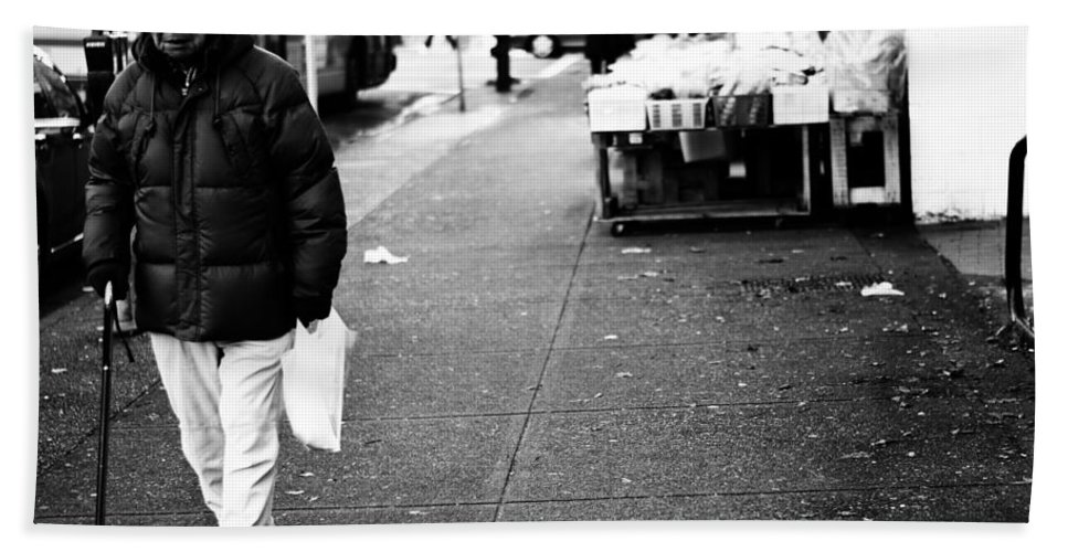 Street Photography Hand Towel featuring the photograph Twenty Two Bottles by The Artist Project