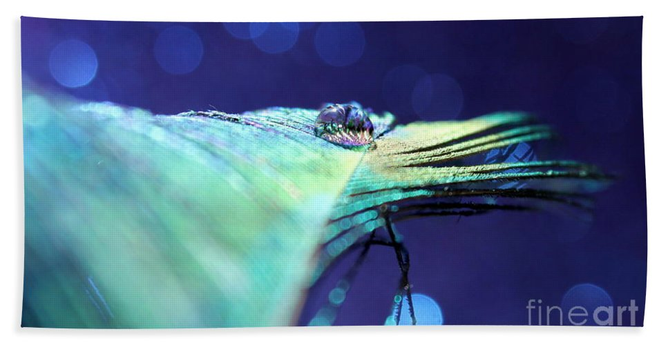 Peacock Feather Bath Sheet featuring the photograph Twilight Dreams by Krissy Katsimbras