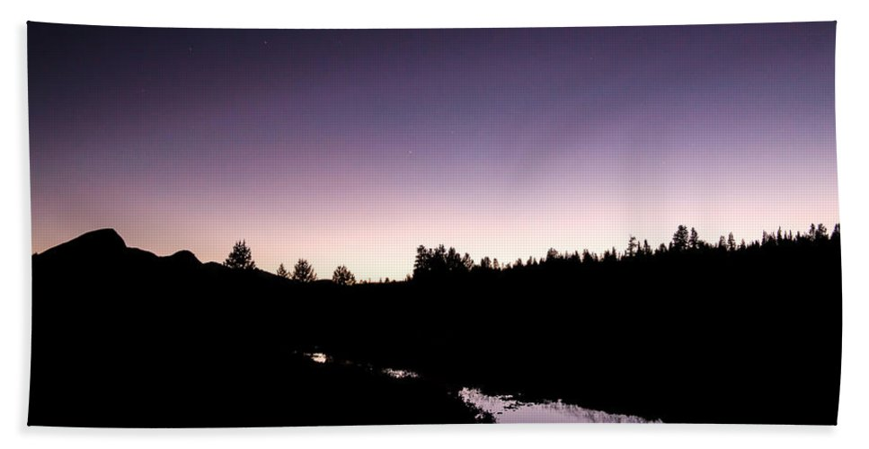 Yosemite Hand Towel featuring the photograph Twilight Over Tuolumne. by Wasim Muklashy