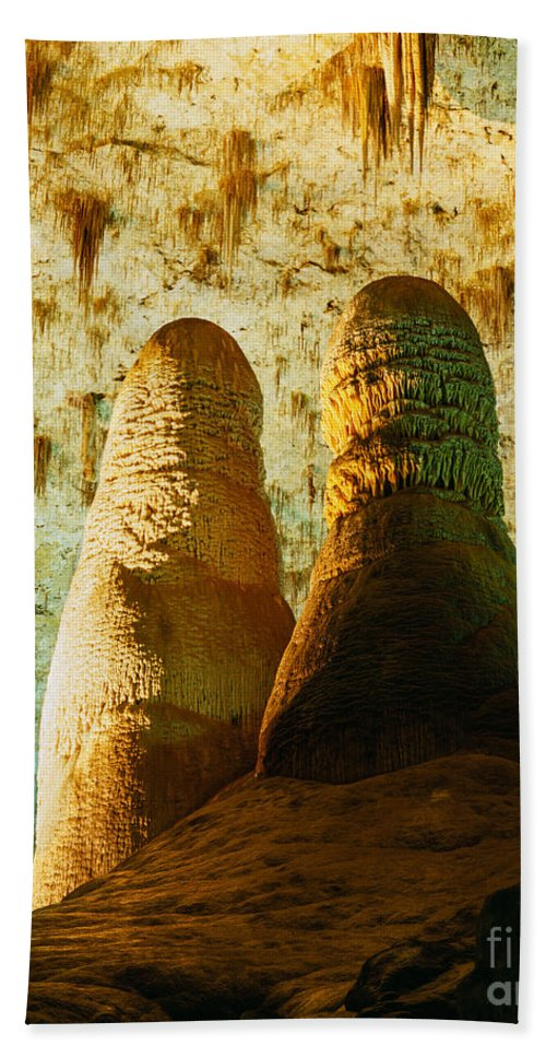 Carlsbad Caverns Hand Towel featuring the photograph Twin Domes by Tracy Knauer