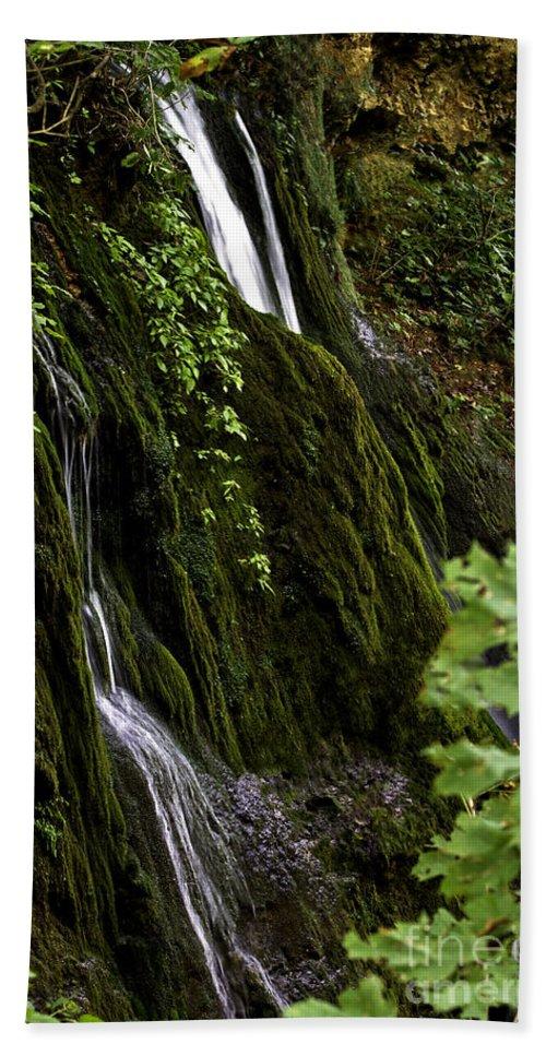 Rural Bath Sheet featuring the photograph Twin Falls by Ken Frischkorn