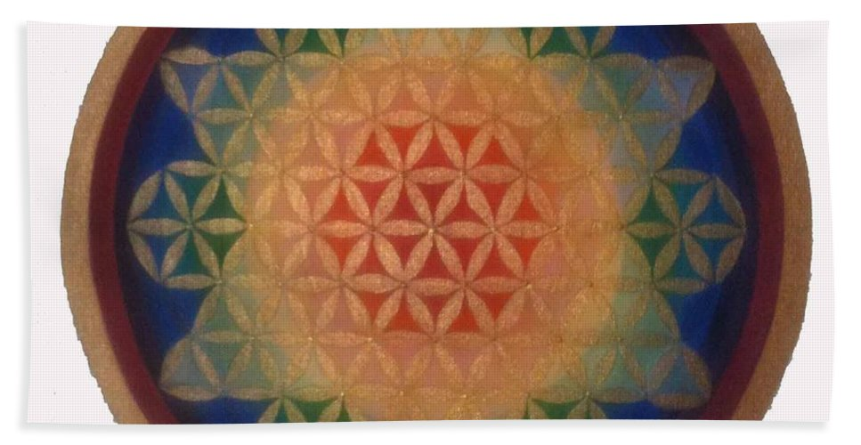 Mandala Bath Sheet featuring the painting Twinkle Star by Mayki Wiberg