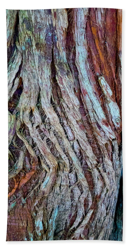 Wood Bath Sheet featuring the photograph Twisted Colourful Wood by Hakon Soreide