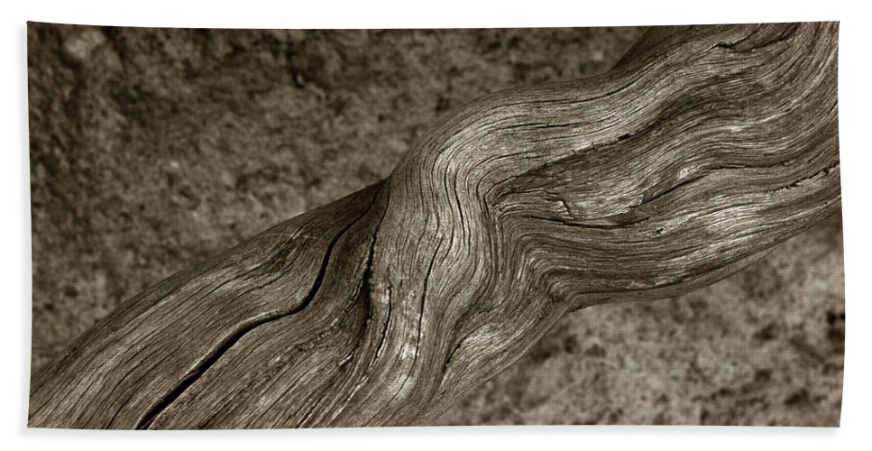 Bath Sheet featuring the photograph Twisted Root by Michael Kirk