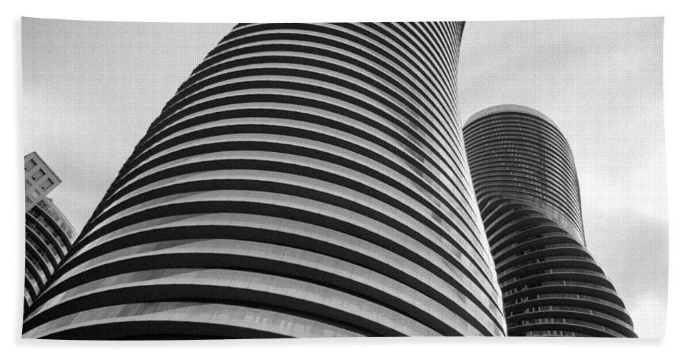 Buildings Bath Sheet featuring the photograph Twisted Sisters 7d01333 by Guy Whiteley