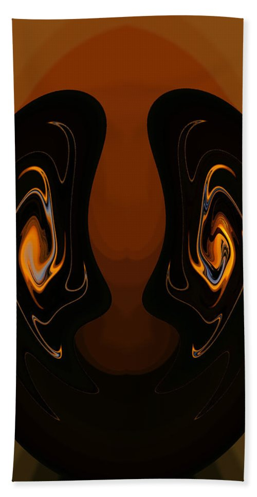 Digital Art Hand Towel featuring the photograph Two Faces by Athala Carole Bruckner