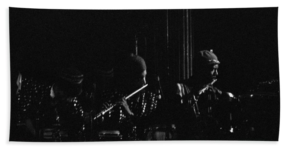 Sun Ra Arkestra Bath Sheet featuring the photograph Two Flutes by Lee Santa