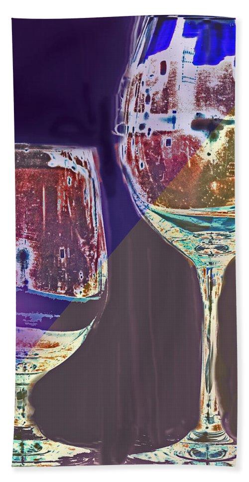 Two Bath Sheet featuring the digital art Two Glasses by Ian MacDonald