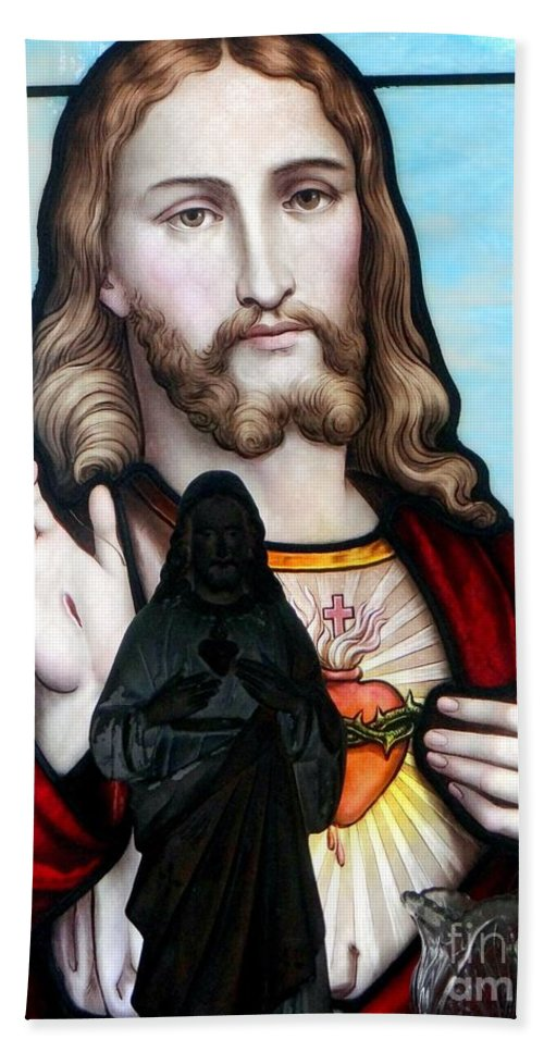 Jesus Christ Bath Sheet featuring the photograph Two Jesuses by Ed Weidman