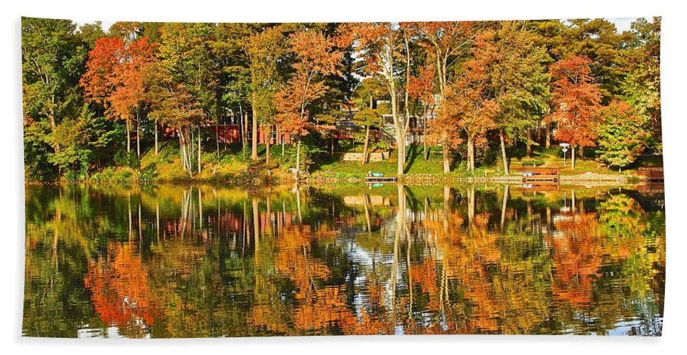 Landscape Hand Towel featuring the photograph Two Of A Kind by Frozen in Time Fine Art Photography