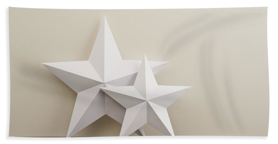 Advent Bath Sheet featuring the photograph Two Stars by U Schade