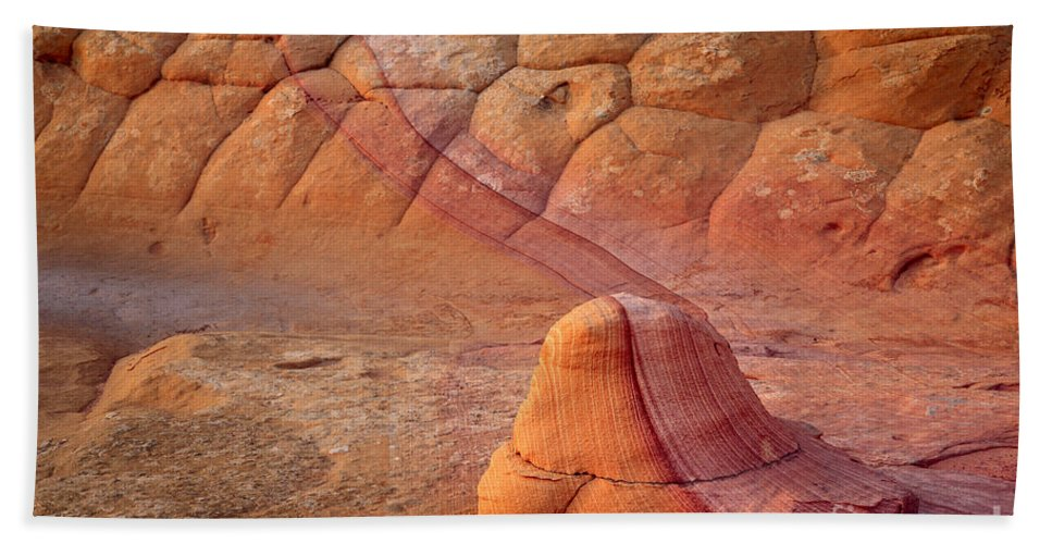 America Bath Sheet featuring the photograph Two Tone Rock by Inge Johnsson