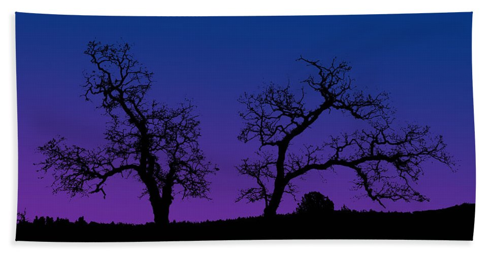 Trees Bath Sheet featuring the photograph Two Trees by Robert Woodward